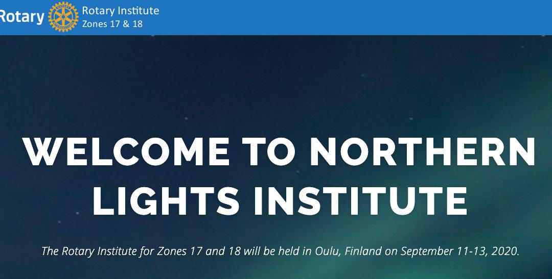 Rotary Instituutti Oulussa 11.-13.9.2020