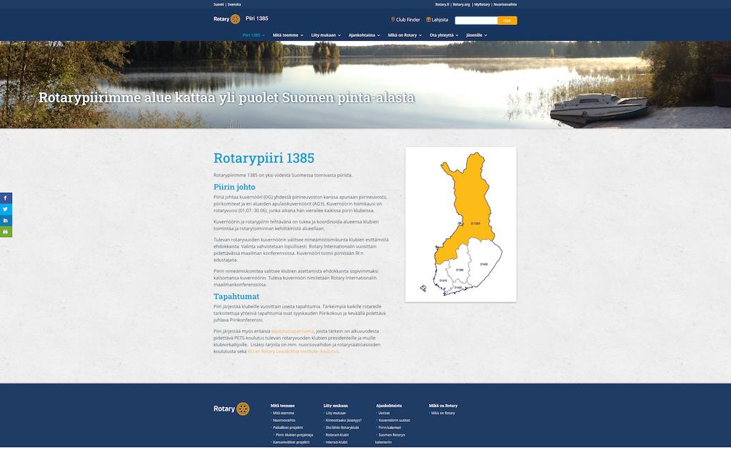Uusi piiri 1385 aloitti toimintansa ja avasi nettisivunsa